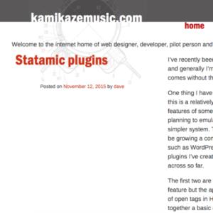 Screenshot from kamikazemusic.com